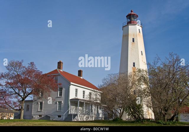 Sandy Hook Lighthouse New Jersey USA - Stock Image