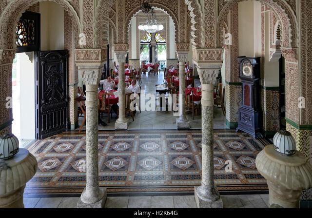 Entrance hall, Palacio de Valle, architect Alfredo Colli, built 1913-1917, historic city centre, Cienfuegos, Cienfuegos - Stock Image
