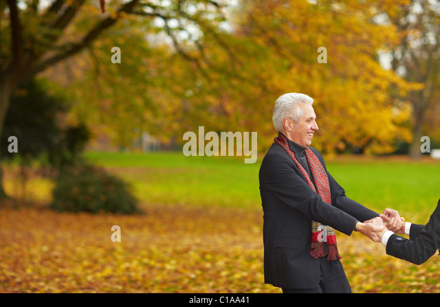 Movement in the autumn woods - Stock Image