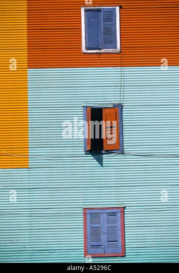Caminito, La Boca, Buenos Aires, Argentina - Stock Image