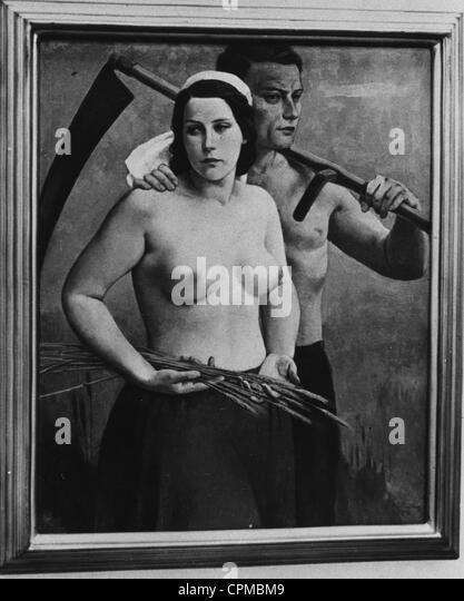 The painting 'Reifezeit' (Time of Ripeness), 1941 - Stock-Bilder