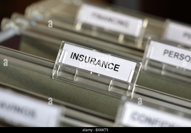 Insurance files - Stock Image
