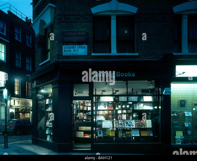 Koenig Book Shop, London, United Kingdom, David Chipperfield, Koenig book shop exterior night view. - Stock Image