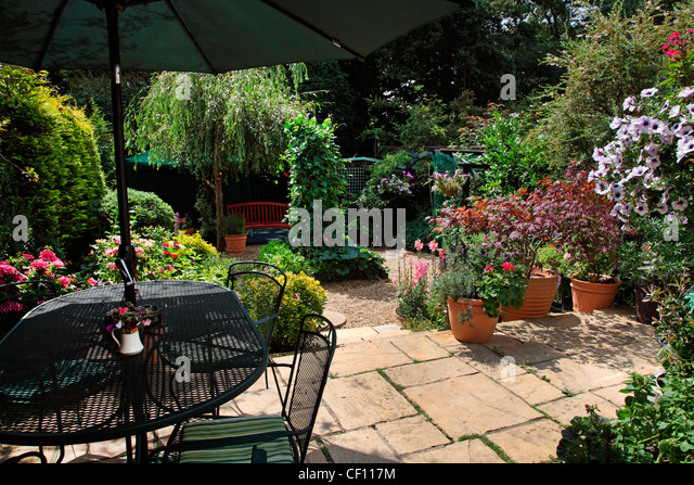 Uk Garden Patio Furniture Stock Photos Uk Garden Patio Furniture Stock