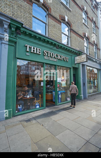 the stockpot  chelsea,  cheap restaurant,  London - Stock Image