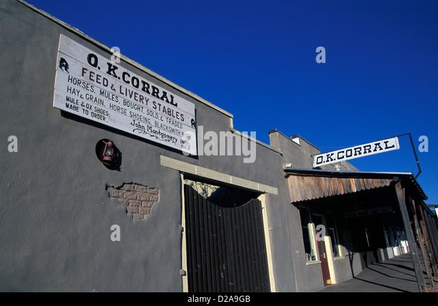 Arizona. Tombstone: Ok Corral - Stock Image