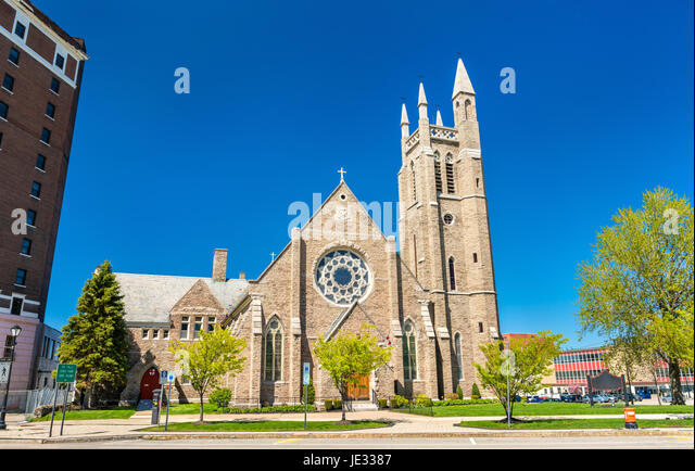 St. Peter's Episcopal Church at Niagara Falls, New York - Stock Image
