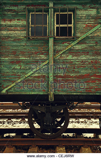 Detail of an Old Wagon - Stock-Bilder