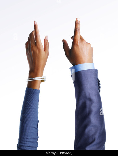 pointing hands - Stock-Bilder