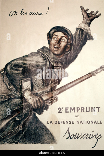 French poster advertising war bonds, WW1 - Stock Image