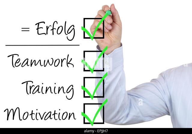 Businessman mit Business Erfolg Konzept Training Motivation und Teamwork - Stock-Bilder