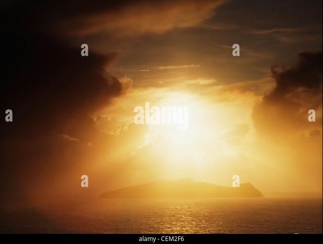 Slea Head, Blasket Islands, Dingle Peninsula, Co Kerry, Ireland - Stock Image