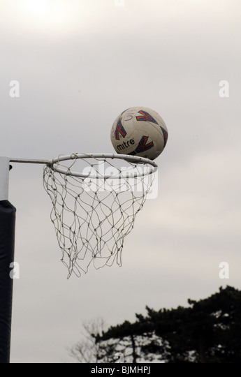 Inter-school netball game. - Stock Image