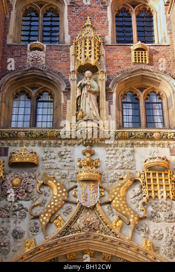 Entrance to King's College and King's College Chapel in Cambridge in the United Kingdom - Stock Image