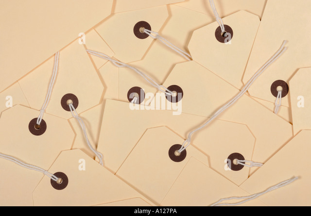 Card labels - Stock Image