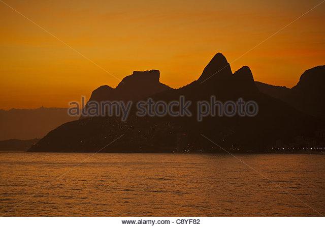 Ipanema Beach Rio De Janeiro Brazil - Stock Image