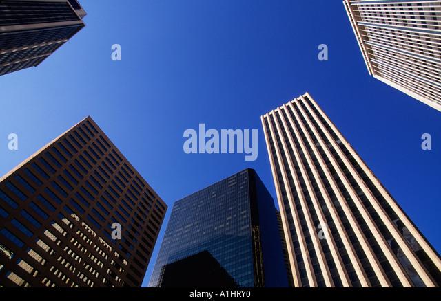 USA Denver Colorado Downtown Office Buildings Skyscrapers Skyline Sandra Baker - Stock Image