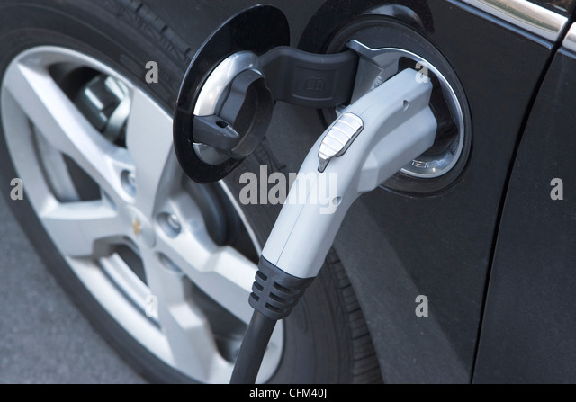 USA, New York State, New York City, part of electric car - Stock Image
