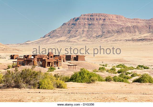 Okahirongo Lodge, Purros Conservancy Wilderness, Kaokoland, Namibia, Africa - Stock Image