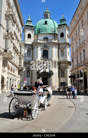 St.Peters church central Vienna Austria - Stock Image