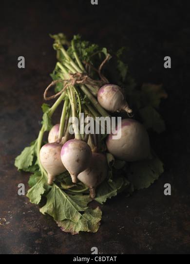 Bunch of turnips - Stock Image