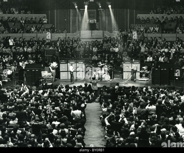 CREAM  Final concert of UK rock trio at Royal Albert Hall 26 November 1968 - Stock Image