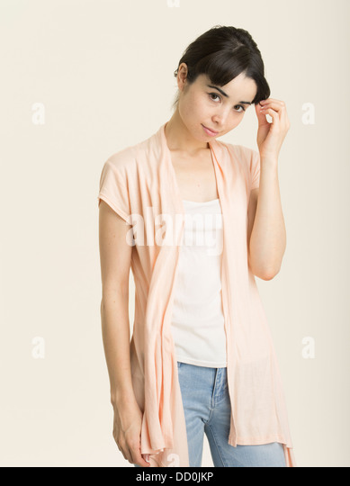 Young Japanese American woman in her twenties - Stock Image