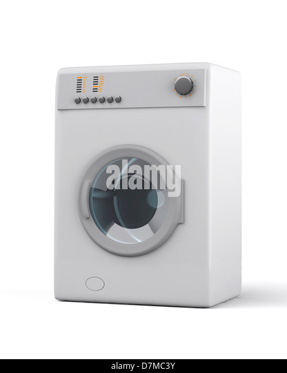 Washing machine, artwork - Stock Image
