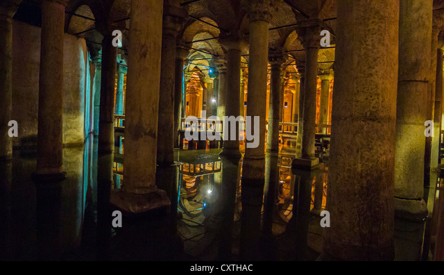The Basilica Cistern in Istanbul Turkey - Stock Image