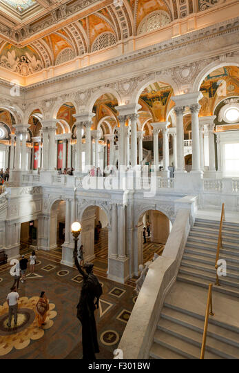 Library of Congress, Great Hall - Washington, DC USA - Stock-Bilder