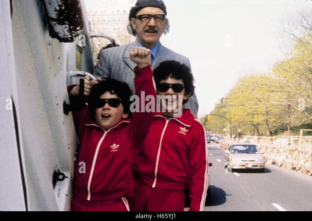 The Royal Tenenbaums, aka: Die Royal Tenenbaums, USA 2001, with Gene Hackman as Royal Tenenbaum and the young Tenenbaums - Stock Image