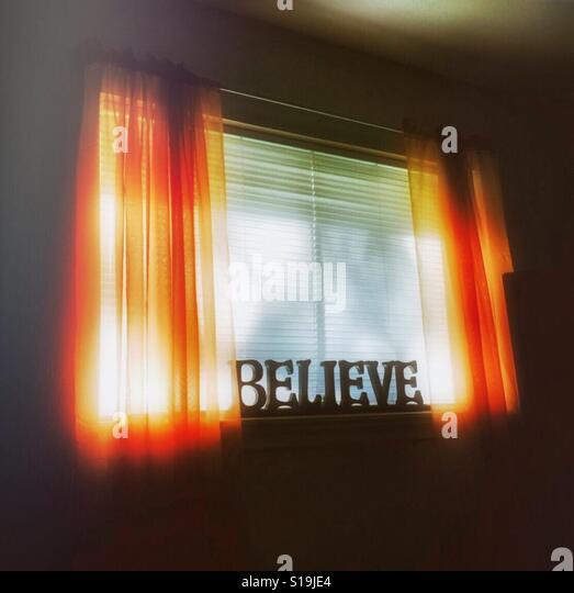 Believe - Stock Image