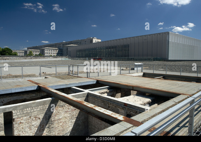 Berlin germany the topography of terror stock image