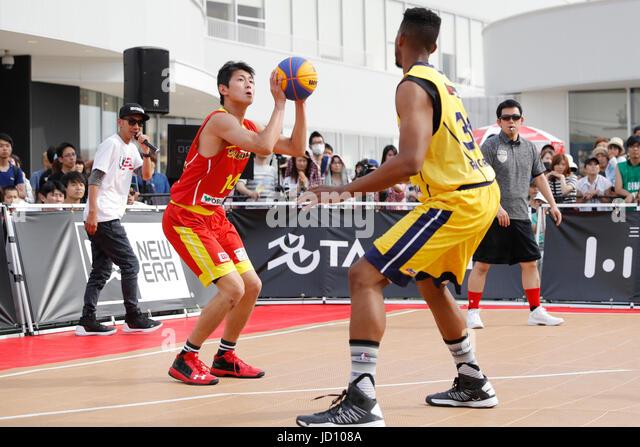 Tokyo, Japan. 17th June, 2017. Dichi Kiiri (ALBORADA) Basketball : 33 PREMIER.EXE 2017 Season TACHIKAWA Eastrn Conference - Stock Image