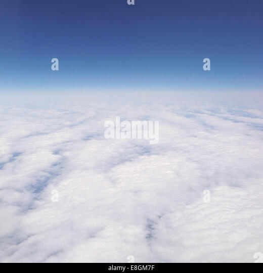 Cloudscape from above - Stock-Bilder