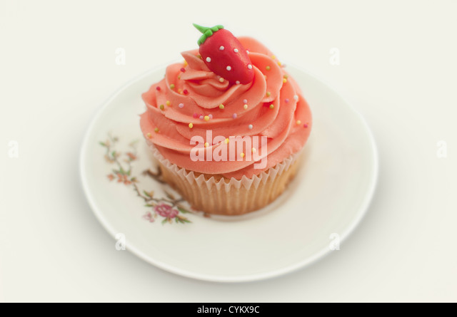 Close up of decorative cupcake - Stock Image