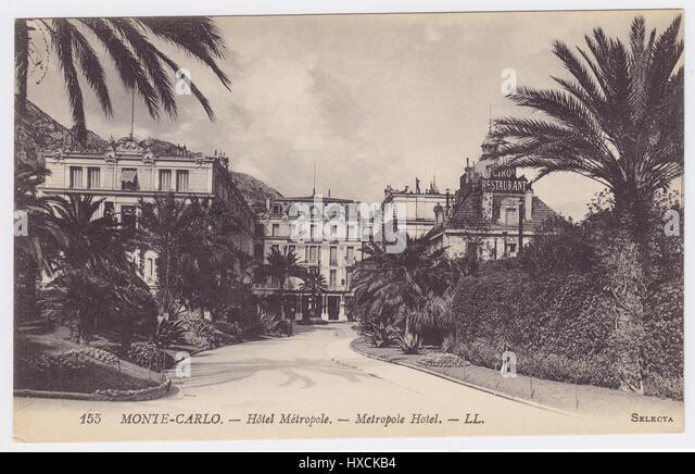 Hotel Metropole, Monte-Carlo, Monaco - Stock Image