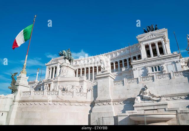 Monument of Vittorio Emanuele II in Rome, Italy. - Stock Image