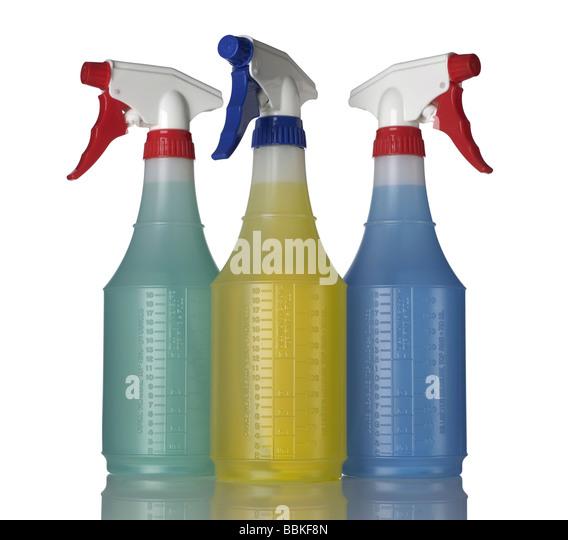 Three 3 spray bottle - Stock Image