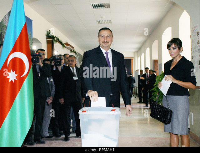 Azerbaijan holds presidential election - Stock Image