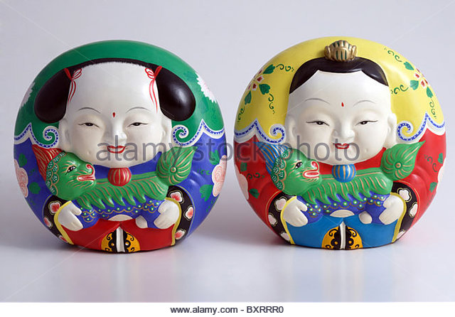 Still life of statues which is mold of clay - Stock Image