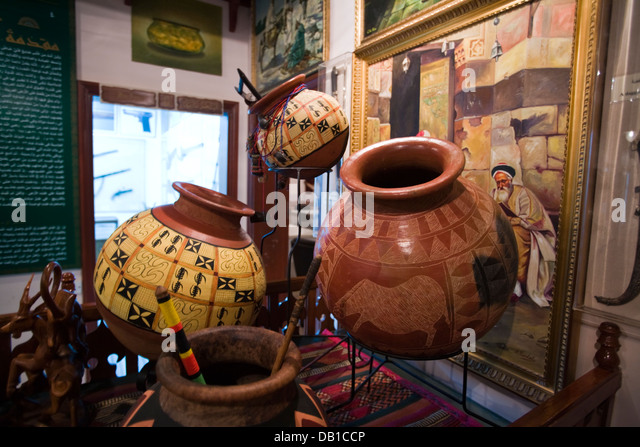Exhibits, the Al-Tayibat City Museum of International Civilisation, Jeddah, Saudi Arabia. - Stock Image