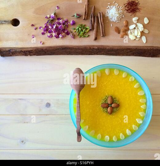 Saffron Rice Pudding - Stock-Bilder