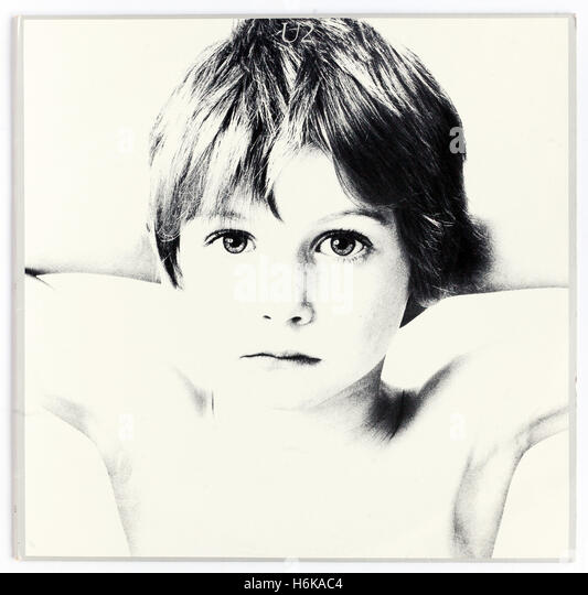 Cover of 'Boy', 1980 album by U2 on Island Records - Stock Image