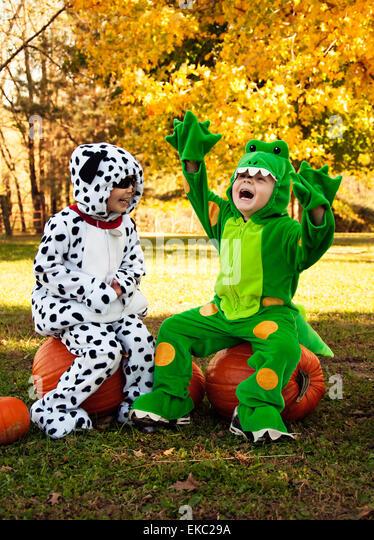 Children costume Halloween fun - Stock Image