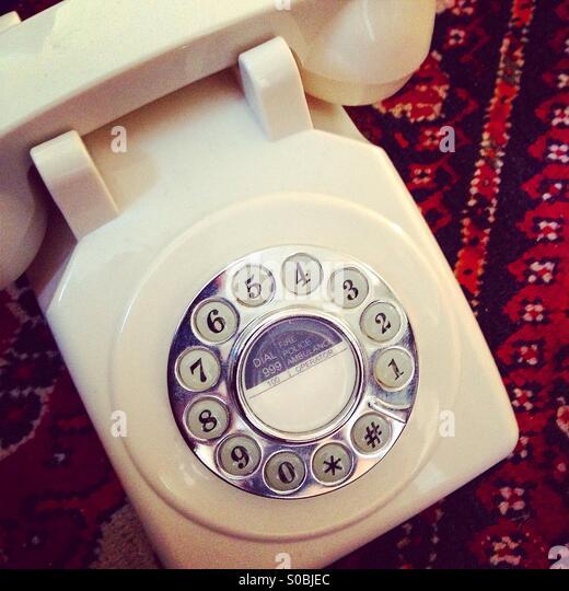 Vintage style Telephone - Stock-Bilder
