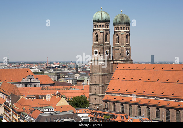 Munich frauenkirche - Stock Image