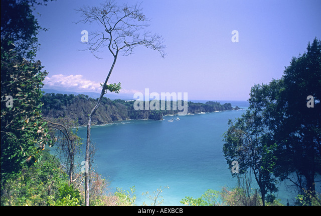 Costa Rica pacific coastline  - Stock Image