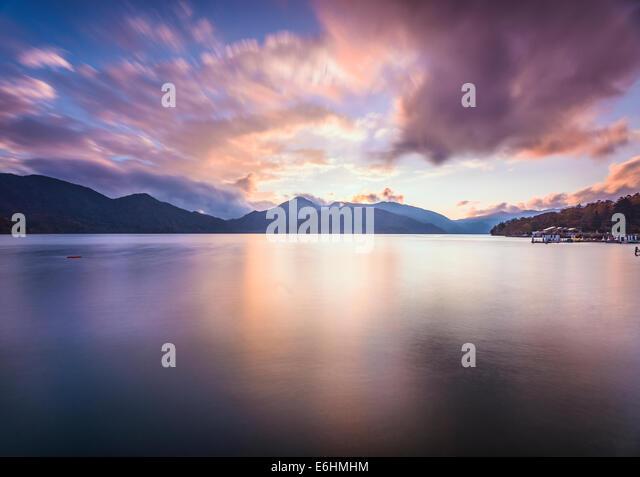 Lake Chuzenji in Nikko, Japan. - Stock Image