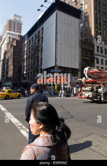 Empty billboards are seen in midtown in New York - Stock Image